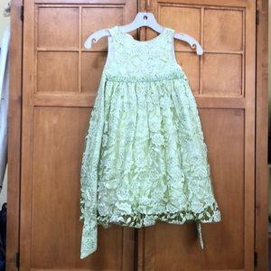 Green flower toddler dress!